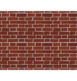 Vintage Red Brick Wall Seamless Pattern vector image