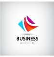abstract business logo 3 parts unity icon vector image vector image