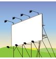 advertising billboard vector image vector image