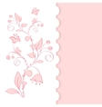 background with cherry flowers vector image