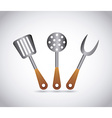 barbecue tools vector image