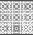 black crosses seamless pattern set vector image vector image