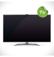 Black Glossy LCD TV vector image vector image