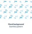 Blue flowers fancy backdrop pattern vector image