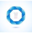 Blue octagon shape on white background vector image