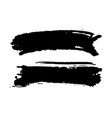 brush strokes set hand drawn grunge texture vector image vector image