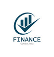 business finance logo vector image vector image