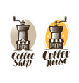 cafeteria coffee house cafe logo or label hot vector image