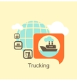 cargo ship icon vector image vector image