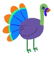 Cartoon ghost turkey flat mascot icon vector image vector image