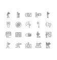 commercial photography line icons signs vector image vector image