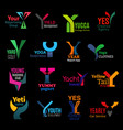 corporate identity y letter icons trend design vector image vector image