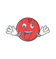 crazy bowling ball character cartoon vector image vector image