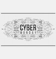 cyber monday background with futuristic user vector image vector image