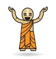 Dancing Hare Krishna man icon vector image