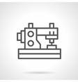 Domestic sewing machine black line icon vector image vector image