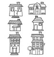doodle of house and building hand draw vector image