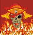 fire phoenix skull vector image vector image