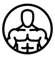 Fitness man icon vector image vector image