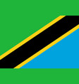 flag in colors of tanzania image vector image vector image