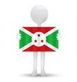 flag of Republic of Burundi vector image vector image
