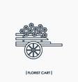 florist cart icon vector image