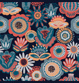 folk floral seamless pattern modern abstract vector image vector image