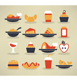 food collection vector image vector image