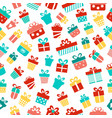 gifts seamless pattern on a white background vector image vector image