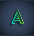 glassy 3d font character vector image vector image