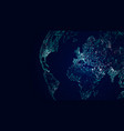 globe international network sci-fi world map vector image