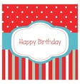 Happy birthday frame card vector image vector image