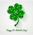 happy st patricks day greeting card with vector image