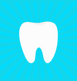 healthy white tooth icon oral dental hygiene vector image vector image