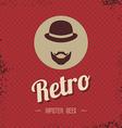 hipster retro geek vector image vector image