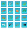 lizard icon blue app vector image vector image