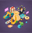 lottery isometric concept vector image vector image