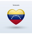 Love Venezuela symbol Heart flag icon vector image
