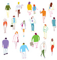 Many people walking talkink and standing vector image vector image