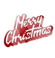 Merry Christmas Hand Lettering Text on Blurred vector image vector image