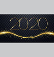 nye new year eve 2020 happy new year 2020 winter vector image vector image