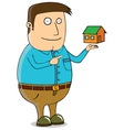 Offering mini house vector image vector image