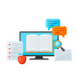 online studying at home concept distance vector image