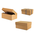 Open and closed cardboard boxes vector image