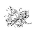 outline mechanical bird vector image vector image