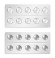 packed tablets and pills set isolated on white vector image