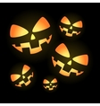Pumpkin faces vector image