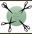 scissors set black silhouettes vector image