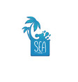 sea time summer vacational label emblem tag vector image vector image