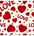 seamless background st valentines day vector image vector image